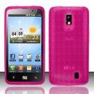TPU Crystal Gel Case for LG Spectrum/Revolution 2 VS920 - Pink