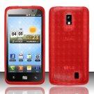 TPU Crystal Gel Case for LG Spectrum/Revolution 2 VS920 - Red