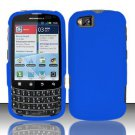Hard Rubber Feel Plastic Case for Motorola Admiral XT603 (Sprint) - Blue