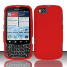 Hard Rubber Feel Plastic Case for Motorola Admiral XT603 (Sprint) - Red