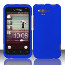 Hard Rubber Feel Plastic Case for HTC Rhyme (Verizon) - Blue