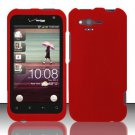 Hard Rubber Feel Plastic Case for HTC Rhyme (Verizon) - Red