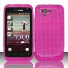 TPU Crystal Gel Case for HTC Rhyme (Verizon) - Pink