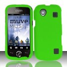 Hard Rubber Feel Plastic Case for ZTE Chorus - Neon Green