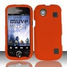 Hard Rubber Feel Plastic Case for ZTE Chorus - Orange