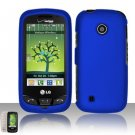Hard Rubber Feel Plastic Case for LG Cosmos Touch VN270 (Verizon) - Blue