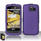 Hard Rubber Feel Plastic Case for LG Optimus S/U/V - Purple