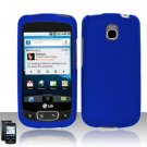 Hard Rubber Feel Plastic Case for LG Optimus T/Phoenix/Thrive (T-Mobile/AT&T) - Blue