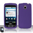 Hard Rubber Feel Plastic Case for LG Optimus T/Phoenix/Thrive (T-Mobile/AT&T) - Purple