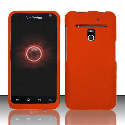 Hard Rubber Feel Plastic Case for LG Revolution 4G/Esteem (Verizon/MetroPCS) - Orange