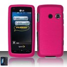 Hard Rubber Feel Plastic Case for LG Rumor Touch/Banter Touch (Sprint/MetroPCS) - Pink