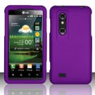 Hard Rubber Feel Plastic Case for LG Thrill 4G P925 (AT&T) - Purple