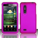 Hard Rubber Feel Plastic Case for LG Thrill 4G P925 (AT&T) - Pink