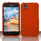 Hard Rubber Feel Plastic Case for LG Marquee LS855/Optimus Black (Sprint/Boost) - Orange