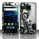 Hard Rubber Feel Design Case for LG Optimus 2X/G2x - Black Vines