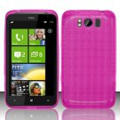 TPU Crystal Gel Case for HTC Titan X310e (AT&T) - Pink