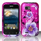 Hard Rubber Feel Design Case for LG myTouch Q C800 (T-Mobile) - Hibiscus Flowers