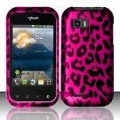 Hard Rubber Feel Design Case for LG myTouch Q C800 (T-Mobile) - Pink Leopard