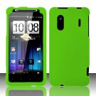Hard Rubber Feel Plastic Case for HTC EVO Design 4G - Neon Green