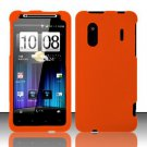 Hard Rubber Feel Plastic Case for HTC EVO Design 4G - Orange