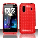 TPU Crystal Gel Case for HTC EVO Design 4G - Red