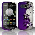 Hard Rubber Feel Design Case for Pantech Breakout 8995 (Verizon) - Purple Vines