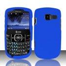 Hard Rubber Feel Plastic Case for Pantech Link II P5000 - Blue
