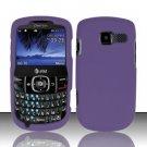 Hard Rubber Feel Plastic Case for Pantech Link II P5000 - Purple
