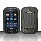 Hard Rubber Feel Design Case for Pantech Pursuit II P6010 - Carbon Fiber