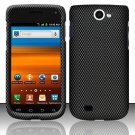 Hard Rubber Feel Design Case for Samsung Exhibit II 4G - Carbon Fiber