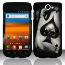 Hard Rubber Feel Design Case for Samsung Exhibit II 4G - Spade Skull