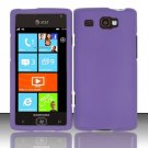 Hard Rubber Feel Plastic Case for Samsung Focus Flash - Purple