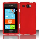 Hard Rubber Feel Plastic Case for Samsung Focus Flash - Red