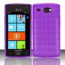 TPU Crystal Gel Case for Samsung Focus Flash - Purple