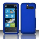 Hard Rubber Feel Plastic Case for HTC Arrive (Sprint) - Blue