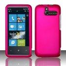 Hard Rubber Feel Plastic Case for HTC Arrive (Sprint) - Pink
