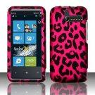 Hard Rubber Feel Design Case for HTC Arrive (Sprint) - Pink Leopard