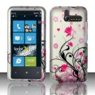 Hard Rubber Feel Design Case for HTC Arrive (Sprint) - Pink Garden