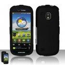 Hard Rubber Feel Plastic Case for Samsung Continuum - Black