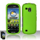 Hard Rubber Feel Plastic Case for Samsung Continuum - Neon Green