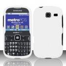 Hard Rubber Feel Plastic Case for Samsung Freeform 3/Comment - White