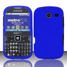 Hard Rubber Feel Plastic Case for Samsung Freeform 3/Comment - Blue