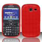 TPU Crystal Gel Case for Samsung Freeform 3/Comment - Red