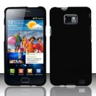 Hard Rubber Feel Plastic Case for Samsung Galaxy S II i777/i9100 (AT&T) - Black