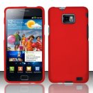 Hard Rubber Feel Plastic Case for Samsung Galaxy S II i777/i9100 (AT&T) - Red