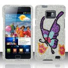 Hard Rhinestone Design Case for Samsung Galaxy S II i777/i9100 (AT&T) - Colorful Butterfly