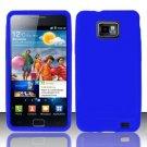 Soft Premium Silicone Case for Samsung Galaxy S II i777/i9100 (AT&T) - Blue