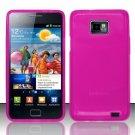 TPU Crystal Gel Case for Samsung Galaxy S II i777/i9100 (AT&T) - Pink