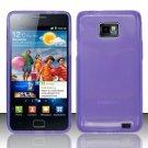 TPU Crystal Gel Case for Samsung Galaxy S II i777/i9100 (AT&T) - Purple