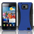 Hard Rubber Feel Hybrid Case for Samsung Galaxy S II i777/i9100 (AT&T) - Blue